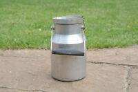 Vintage old aluminium milk churn milk can milkchurn milk pot  2L - FREE POSTAGE
