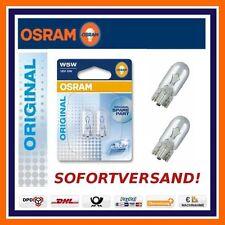 2X OSRAM Original Line W5W KENNZEICHEN BELEUCHTUNG Chevrolet Chrysler Citroen