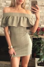⭐️ Womens BOOHOO Brand Size 10 Bodycon Off Shoulder Mini Dress EUC ⭐️