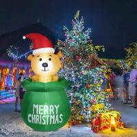 Aufblasbare Bär LED beleuchtet Außen Outdoor Weihnachten Figur Winter Deko DE