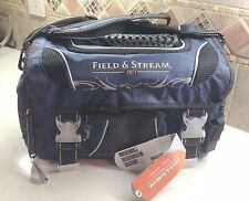 Gift Idea Field & Stream Angler Fishing Tackle Bag w/ 3 Large Utility Tray Boxes