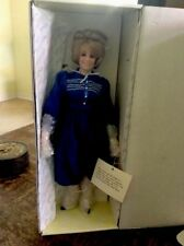 """Fashion Designer Row"""" Doll 16� Tall Porcelain New Old Stock In Box Vintage Item"""