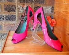 ●👠DESIGNER TED BAKER PINK PATENT LEATHER PEEP TOE SHOES SIZE 7UK/40EU
