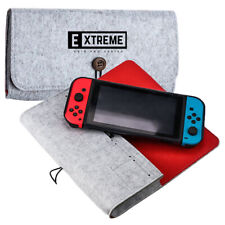 Portable Travel Bag Carrying Case Felt Pouch Storage Bag for Nintendo Switch - W