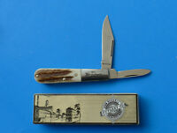 RUSSELL Stag Barlow Knife RU06 NEW Green River Works Solingen Germany Clip Blade