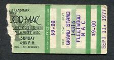 1977 Fleetwood Mac Jimmy Buffett concert ticket stub Rumours Tour Milwaukee WI