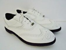 Mizuno Men's White Leather Wingtip Golf Shoe US10 UK9 EUR43.5 Steel Cleats NWOB
