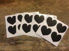 100 Heart Shaped chalkboard stickers, vinyl stickers,  weddings, labels