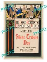 8x6 HISTORIC PHOTO OF WWI  MILITARY POSTER c1915 LORD ROBERTS SILENT TRIBUTE DAY