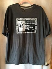 Nike Air Force Tee Shirt Gray Grafic Please Restrict Area Dunking Sz 2Xl