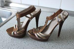pumps high heels neu gr 37 beige gold
