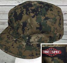 Tru Spec Cap Combat BDU Hat Cadet Military Commander Army Camouflage 7 3/4
