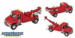 WALTHERS SCENEMASTER HO SCALE 1/87 INTL 4300 TOW TRUCK RED 949-11531