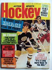 1972 HOCKEY ACTION SPORTS MARCH MAGAZINE - COVER BOBBY ORR BOSTON BRUINS