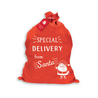 Special Delivery From Santa Christmas Sack - Xmas Stocking Gift Bag Present Toy