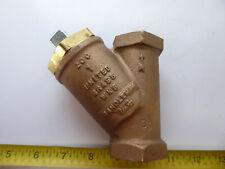 "United Brass Works Model 200 1"" Strainer with Steel Plug"