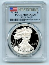 2020 S $1 Proof American Silver Eagle Dollar 1oz PCGS PR69DCAM First Strike