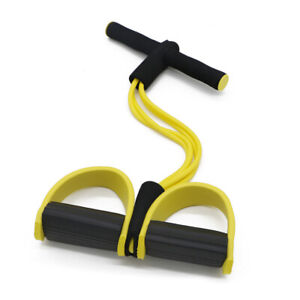 2/4-Tube Foot Pedal Resistance Band Sit-up Fitness Home Yoga Elastic Pull Rope