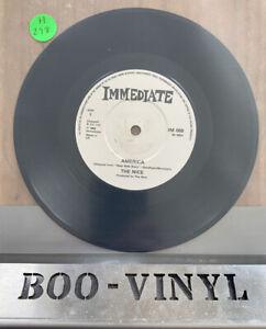 "THE NICE - AMERICA - 7"" VINYL SINGLE - IMMEDIATE - PROG EX CON"