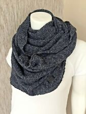 Emporio Armani Blue Grey Mix Snood / Infinity Scarf Made in Italy