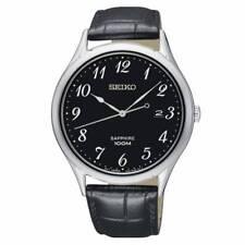 Reloj de cuarzo Seiko Neo Classic negro Día 40mm cristal de zafiro Sgeh77p1