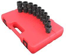 "Sunex 9pc 1/2"" SAE 6pt Universal Impact Sockets Tools Set Standard 2657"