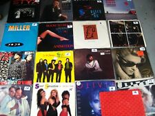 1980s pop hits 45 rpm vinyl records Vg+/Nm- You Select rock w/Picture Sleeves