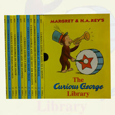 Curious George Library Collection 12 Books With Box Set By Margret and H.A Rey