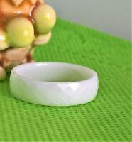 Ring Weiss Keramik 6 mm Breit  (25j)