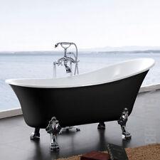vasca da bagno indipendente PARIGI acrilico 176x71 nero incl.