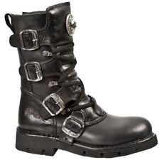 New Rock Buckle Biker Boots Shoes for Men