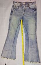 Free People Wos Jeans Flare Bottom 29 Distressed 1855 Frayed twisted raw 5643