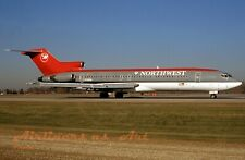 """Northwest Airlines Boeing 727-2M7 N728RW at MSP in Late 1997 8""""x12"""" Color Print"""