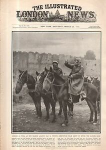 1917 London News March 24 - Gas-masked horses and men; Dirigible U-Boat spotters