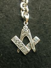 Masonic solid silver 925 stamped pendant-keyring charm fob hallmarked 11.2 g