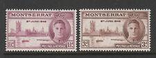 MONTSERRAT 1946 VICTORY PAIR SG 113-114 MNH.