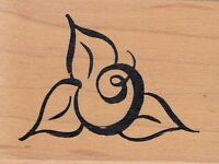 "flower bud29931 denami design Wood Mounted Rubber Stamp 1 1/2 x 2"" Free Shipping"