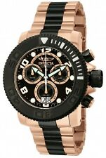 Men's InvictA 11162 Sea Hunter ROSE Gold TWO TONE Chronogpaph Swiss made NEW