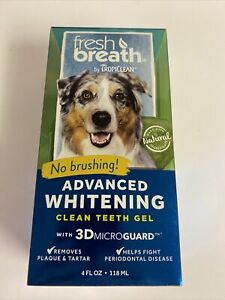 Fresh Breath by TropiClean - Oral Care Gel for Dogs With Advanced Whitening