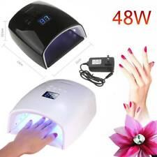48W Cordless Led/Uv Nail Lamp Gel Polish Acrylic Nail Light Dryer Rechargeable