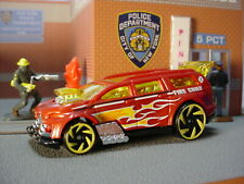 🔥 2020 HW RESCUE Design NITRO TAILGATER ☆red; FIRE CHIEF 🔥LOOSE Hot Wheels 🔥