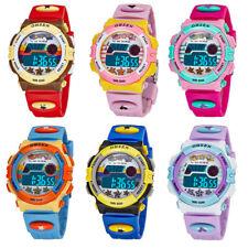 Reloj de pulsera OHSEN Chicas Chicos Niños Alarma Digital LED Cronómetro deportivo de goma