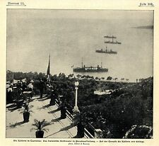 The German Empress on the terrace in taomina * Image Document 1905