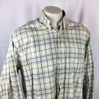 Tommy Hilfiger Mens Shirt Button Front Down Collar Long Sleeve Plaid Large EUC