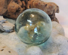 Vintage Japanese GLASS FISHING FLOAT.. Makers Mark, Bubbles & Stains (#23)