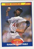 FREE SHIPPING-MINT-1989 Score Los Angeles Dodgers  #635 Ramon Martinez ROOKIE