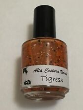 ALTA COSTURA VERNIS NAIL POLISH TIGRESS HALLOWEEN ORANGE GLITTER LACQUER INDIE