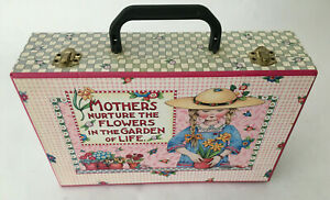 Mary Engelbreit Collector Suitcase Craft Storage Box Handle & Latches Excellent