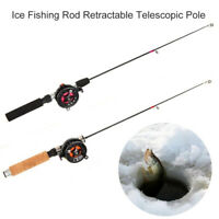 Retractable Ice Fishing Rod Reel Telescopic Pole Stick for Freshwater Saltwater