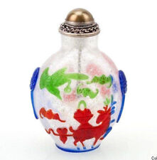 Cina 20. secolo. - A Chinese Overlay Glass snuff bottle-cinese tabatière chinois